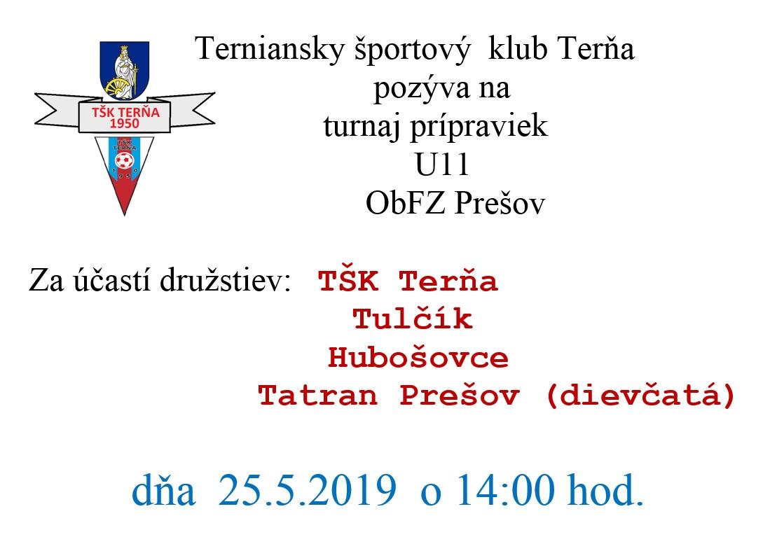 a067b37f3 Pozvánka na futbalové zápasy TŠK Terňa